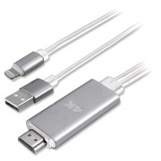 4smarts Lightning / HDMI 4K UHD Adapter - iPhone, iPad, iPod - 1.8m