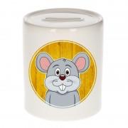 Bellatio Decorations Dieren spaarpot muis voor kinderen 9 cm