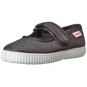 Cienta 56013 Glitter Mary Jane Fashion Sneaker , Grey, 20 EU(4 M US Toddler)