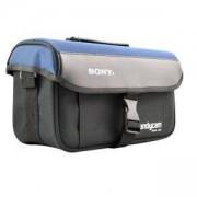 Чанта за камера SONY, PVC Цвят чернo /синя, Голяма, A-31