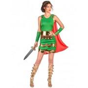 Vegaoo Römerinnen Kostüm für Damen grün