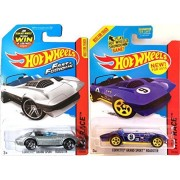 Fast & Furious Hot Wheels Set Hw Race # 179 Corvette Grand Sport Roadster Convertible In Protective Cases