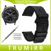 22mm Milanese Watch Band + Tool for Samsung Gear S3 Classic Frontier Garmin Fenix Chronos Stainless Steel Strap Wrist Bracelet