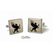 Tyler & Tyler Stencilart White Bricks Cufflinks Griffin