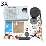 HITSAN 3Pcs DIY ZX2051 Type IC FM AM Radio Kit Electroinc Learning Set One Piece