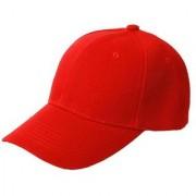 Tahiro Red Plain Cotton Casual Cap - Pack Of 1