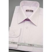 Pánská košile lila s jemným proužkem Avantgard 511-33-42/170