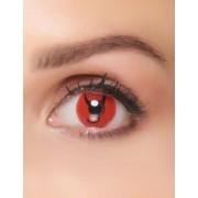 Vegaoo Teuflische Kontaktlinsen Kostümzubehör schwarz-rot
