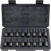 Blackhawk by Proto 16-Piece Hex Bit Socket Set with Case - 1/2Inch Drive, SAE and Metric, Model UH-1216CS