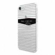 Husa Silicon Transparent Slim I Dont Care Apple iPhone 7 8