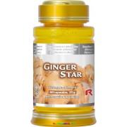 Ginger Star 60 db Gyömbér-gyökér port tartalmazó étrend-kiegészítő kapszula - StarLife