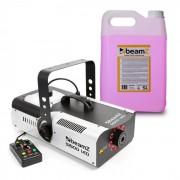 Beamz S1500LED Máquina de niebla incl. 5 litros de líquido de niebla 1500 W 9 ledes RGB de 3 W DMX (PL-31747-6607)