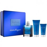 Salvatore Ferragamo Acqua Essenziale Blu lote de regalo V. eau de toilette 100 ml + bálsamo after shave 50 ml + gel de ducha 100 ml