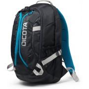 Dicota, Backpack ACTIVE XL 15 tot 17.3 inch - Laptop Rugzak / Zwart en Blauw