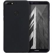 Protectie spate Senno Pure Flex Slim Mate TPU pentru Huawei Y7 2018 / Y7 Prime 2018 (Negru)
