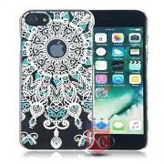 KC Ultra Slim Bright Hard Damask Vintage Design Case Good Quality Material Back Cover for Apple iPhone 7 (Black)