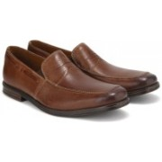 Clarks Holmby Step Brown Leather Formal For Men(Tan)
