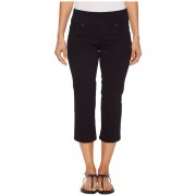 Jag Jeans Petite Peri Straight Pull-On Twill Crop in Black Black