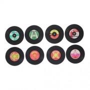 Orange85 Onderzetters voor Glazen LP Vinyl Muziek 16 stuks