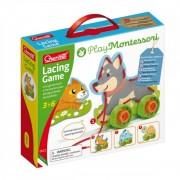 Joc cu sireturi Montessori Quercetti, 20 piese, 3 ani+