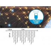 Jégszikrázó fényfüzér toldható 2 x 0.9 m meleg fehér LED KDK 103