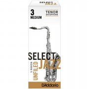 D'Addario Select Jazz Unfiled Tenor Sax 3M Blätter