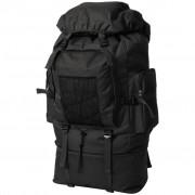 vidaXL Army-Style Backpack XXL 100 L Black