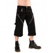 pantaloncini 3/4 uomo Nero Pistol - Zip Short Pantaloni Denim Nero - B-1-45-101-00