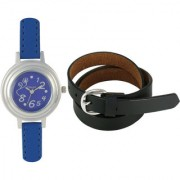 Crude Smart Combo of Analog Watch-rg175 With Leather Belt for - Women's Girl's