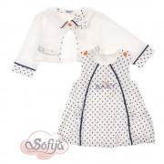 Бебешка рокля с болеро DAFINKA 62см Sofija