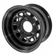 Jante Otel BLACK: 10J x R15; 5x114.3; BackSpace 3.75 inch - RuggedRidge - pt. Jeep YJ, TJ, XJ, ZJ