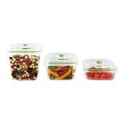 Food Saver Combo 3 Fresh Cont ainers 1,8L + 1,2L + 0,7L