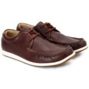 Clarks Newton Energy Men Genuine Leather Sneakers For Men(Brown)