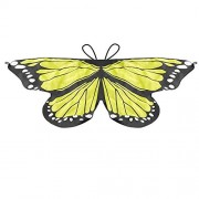 LIVEBOX Monarch Butterfly Wings Shawl Cape Scarf Fanciful Fabric Dance Wing Dress Up Kids Costume Accessary (Yellow)