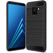 Samsung Galaxy A8 Plus 2018 hoesje - Rugged TPU Case - zwart