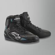 Alpinestars Chaussures Moto Femme Alpinestars Stella Faster-3 Rideknit Noir-Turquoise 38