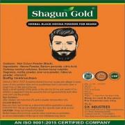 Herbal Natural For Men Mustache Beard Real Black Color 100gm