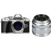 Aparat foto Mirrorless Olympus E-M10 Mark III 16.1 MP Argintiu + Obiectiv Foto Olympus EZ-M1442 IIR Argintiu