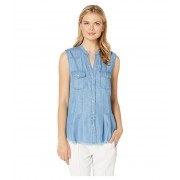 Liverpool Flap Patch Pocket Western Sleeveless Top Santa Rosa