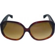 TOMMY HILFIGER Over-sized, Butterfly Sunglasses(Brown)