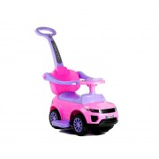 Dječja guralica Automobil s drškom roza