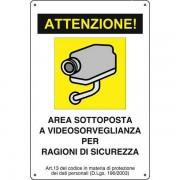 Cartello avviso videosorveglianza - CART-01