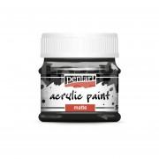 Pentart Matt fekete színű akril bázisú hobbi festék 50 ml