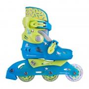 Детски ролери Worker TriGo Skate Blue със светещи колела