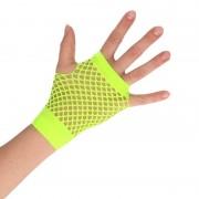 Geen Groene korte visnet handschoenen voor volwassenen