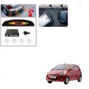 Auto Addict Car White Reverse Parking Sensor With LED Display For Hyundai Eon