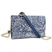 Midnight Blue Paisley Weekender Crossbody Bag For Microsoft Lumia 950 5.2, 950 Xl 5.7, Lumia 640, Lumia 550, Lumia 540, Lumia 535, Nokia Lumia 830 | Cases And Covers