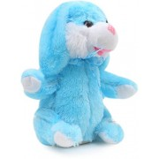 Domenico Dancing & Singing Plush Rabbit Music Plush Soft Toy Rabbit Ears Hands Moves Up Down - Blue