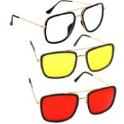 Phenomenal Aviator Sunglasses(Clear, Yellow, Red)
