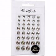 Geen Hobby kristal zilveren plaksteentjes 40 stuks